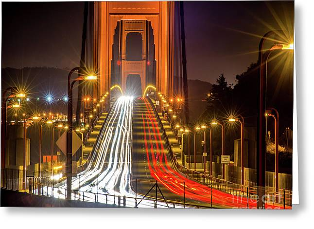 Golden Gate Traffic Greeting Card
