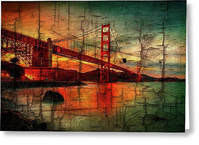 Golden Gate Weathered Greeting Card