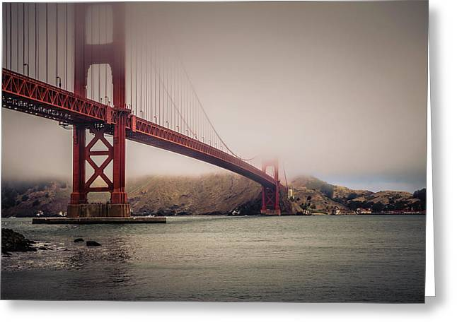 Golden Gate Greeting Card by William Towner