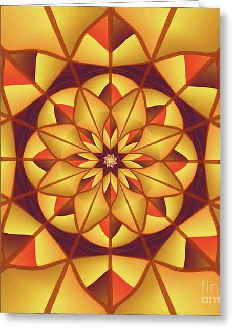 Golden Geometric Flourish Greeting Card
