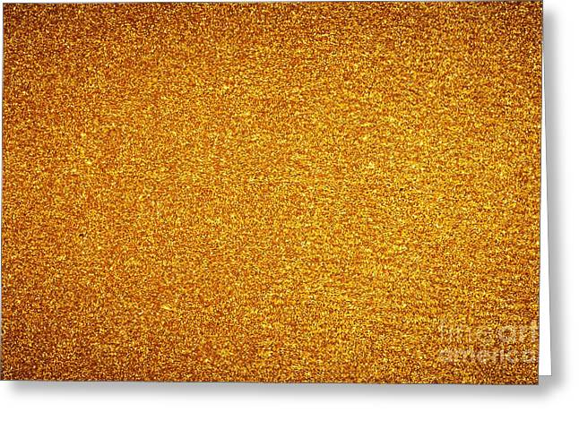Golden Glitter Background. Christmas, New Year, Party Theme Greeting Card