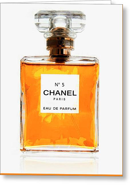 Golden Glow Of Chanel No. 5 Greeting Card