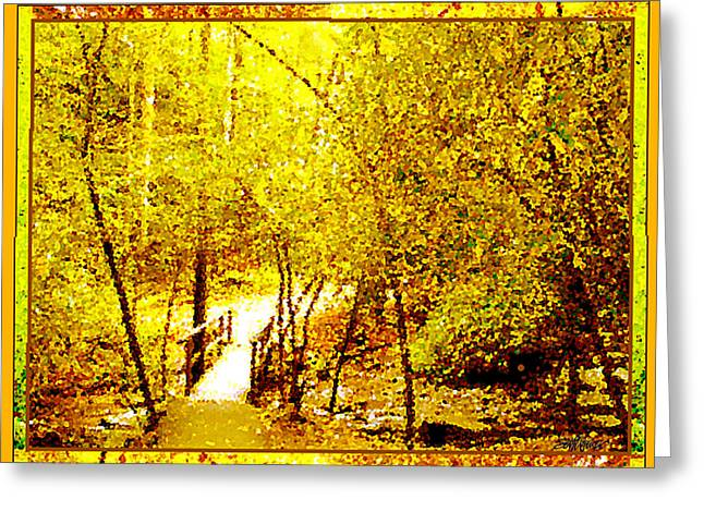 Golden Glow Greeting Card by Seth Weaver