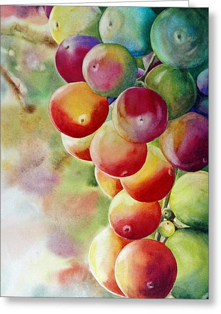 Golden Grapes Greeting Card
