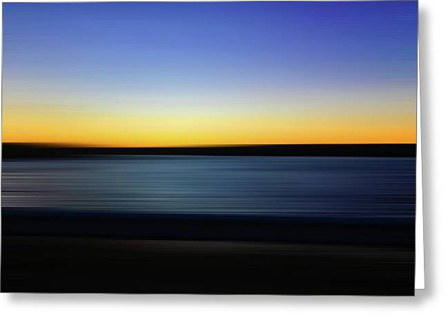 Greeting Card featuring the digital art Golden Horizon by Gina Harrison