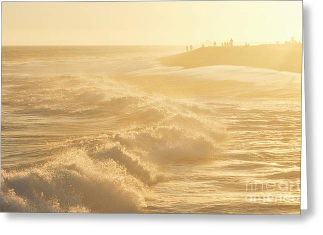 Golden Hour At The Wedge Greeting Card