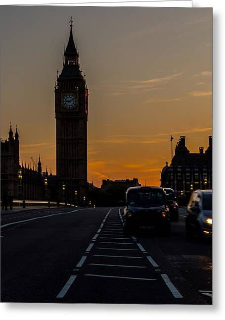 Golden Hour Big Ben In London Greeting Card