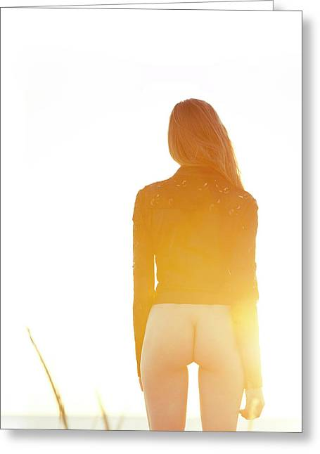 Golden Hour Girl Greeting Card