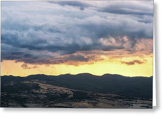 Golden Hour In Volterra Greeting Card