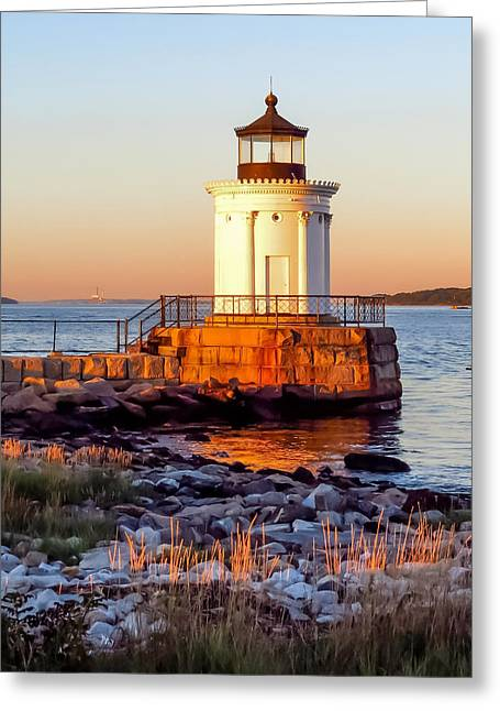 Golden Hour Greeting Card by Laurie Breton