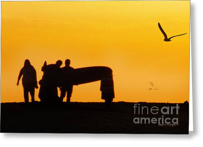 Greeting Card featuring the photograph The Golden Hour by Rhonda Strickland