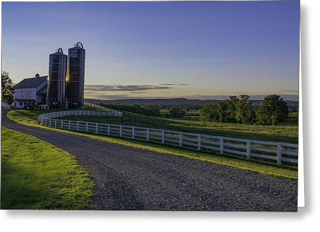 Golden Hour Silos Greeting Card