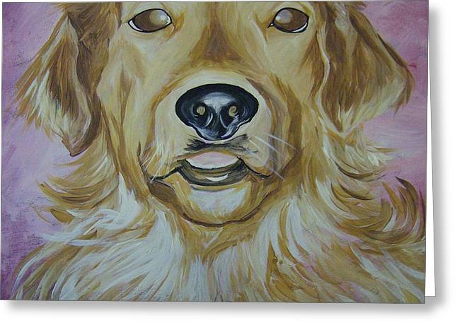 Golden II Greeting Card by Leslie Manley