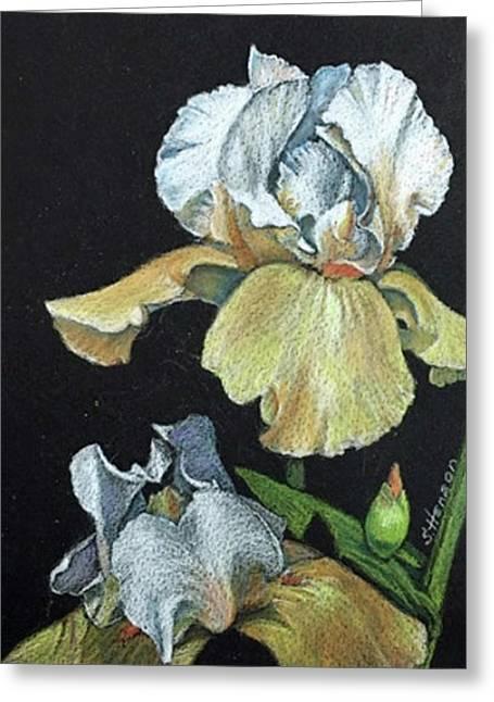 Golden Iris Greeting Card