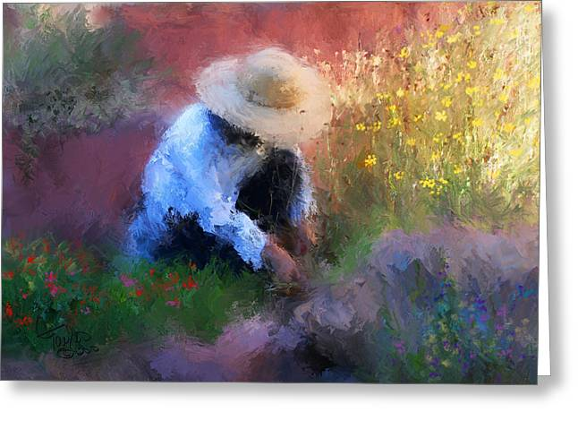Hat Art Greeting Cards - Golden Light Greeting Card by Colleen Taylor