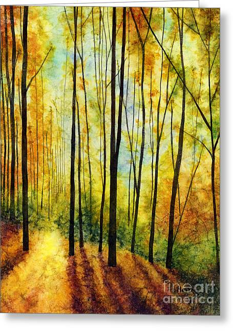 Golden Light Greeting Card by Hailey E Herrera