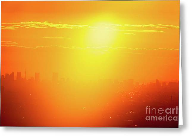 Golden Light Greeting Card by Tatsuya Atarashi