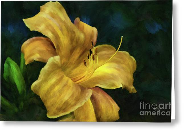 Golden Lily Greeting Card