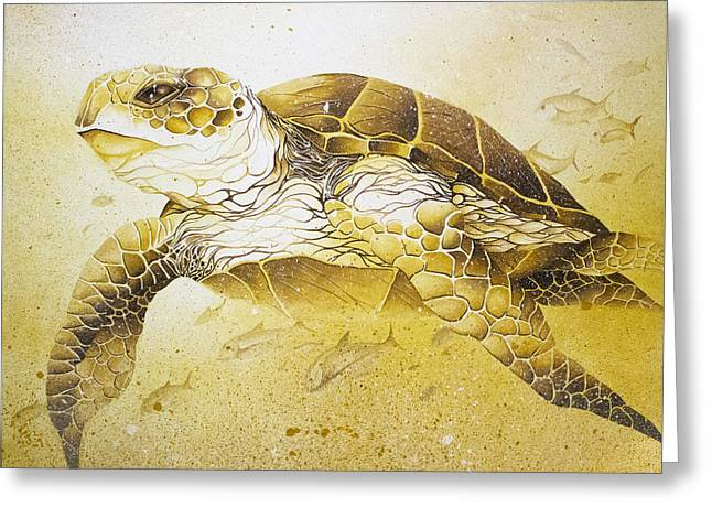 Golden Loggerhead Greeting Card