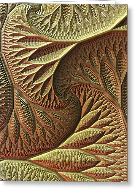 Greeting Card featuring the digital art Golden by Lyle Hatch