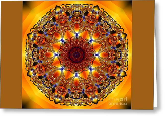 Golden Mandala Greeting Card