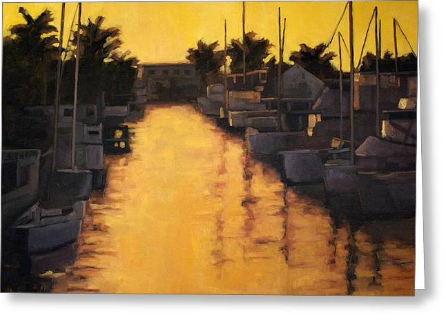 Golden Marina 2 Greeting Card