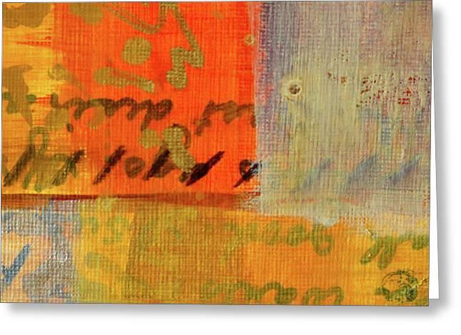 Greeting Card featuring the painting Golden Marks 12 by Nancy Merkle