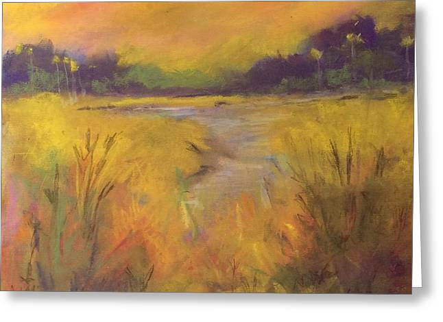 Golden Marsh Greeting Card