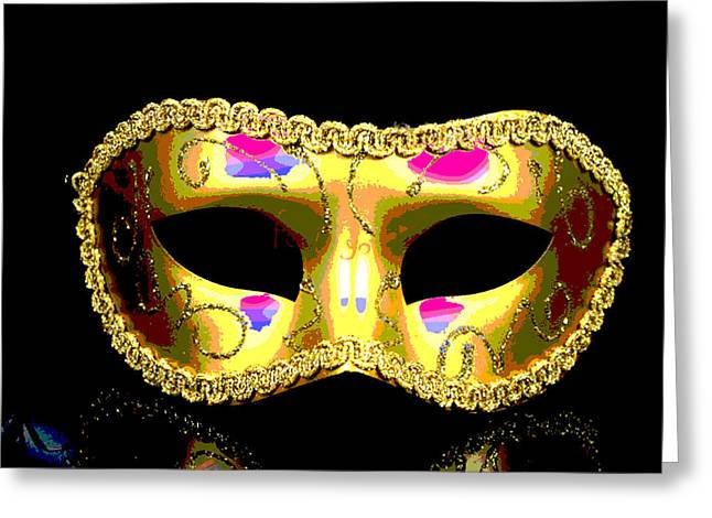 Golden Mask Greeting Card