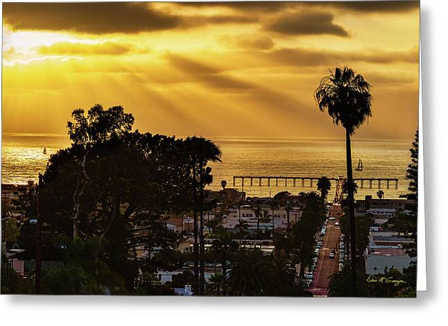 Greeting Card featuring the photograph Golden Moment by Dan McGeorge