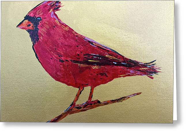 Golden Morning Cardinal Greeting Card