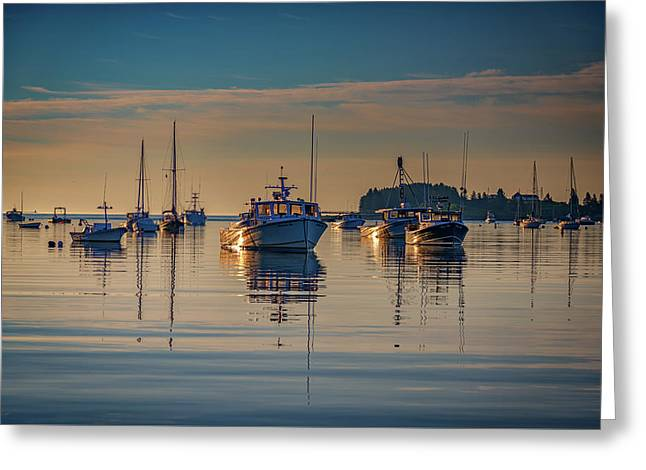 Golden Morning In Tenants Harbor Greeting Card