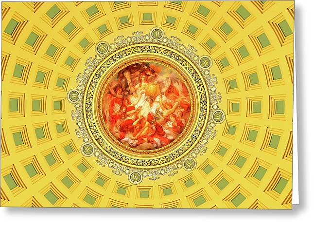Golden Mural Greeting Card by Todd Klassy