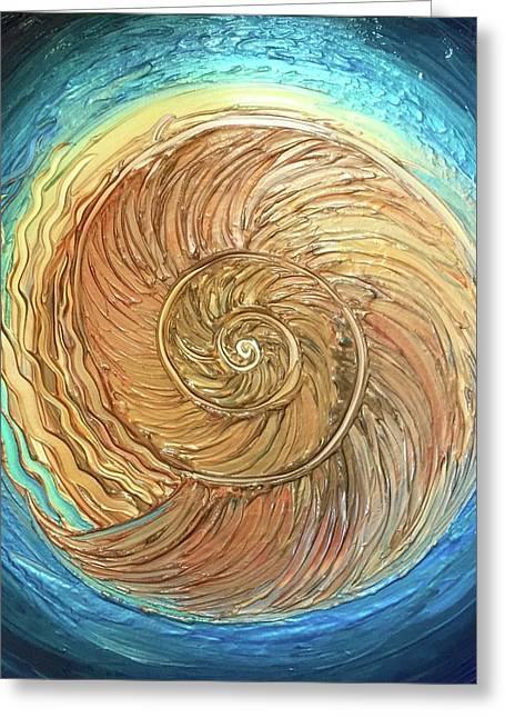 Golden Nautilus Greeting Card