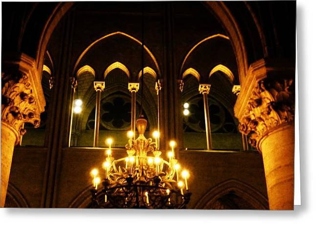 Golden Notre Dame Greeting Card