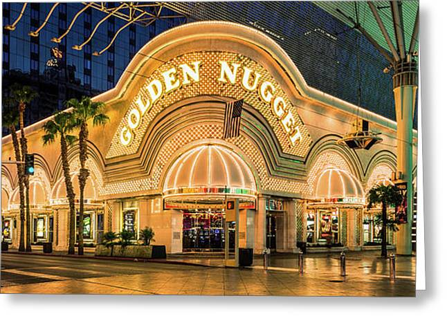 Golden Nugget Casino Entrance Greeting Card by Aloha Art