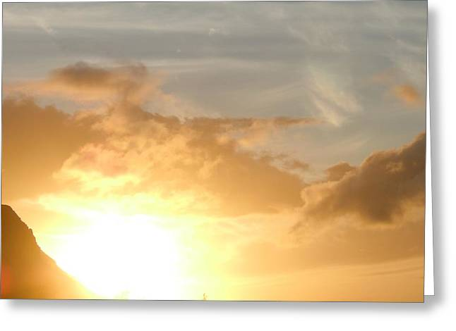 Golden Oahu Sunset Greeting Card