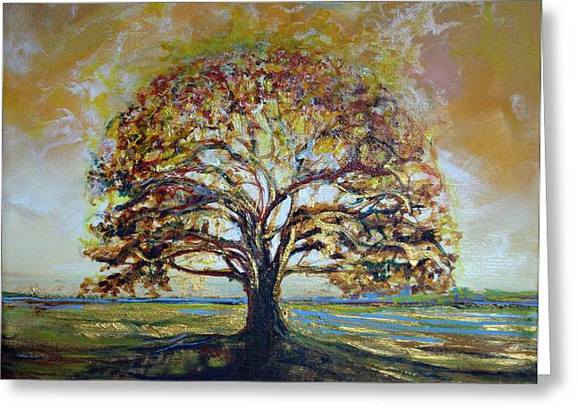 Golden Oak Greeting Card by Michele Hollister - for Nancy Asbell