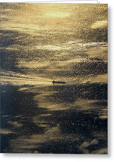 Golden Ocean Greeting Card