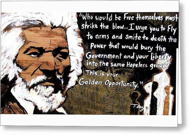 Golden Opportunity Greeting Card by Tamerlane Bey