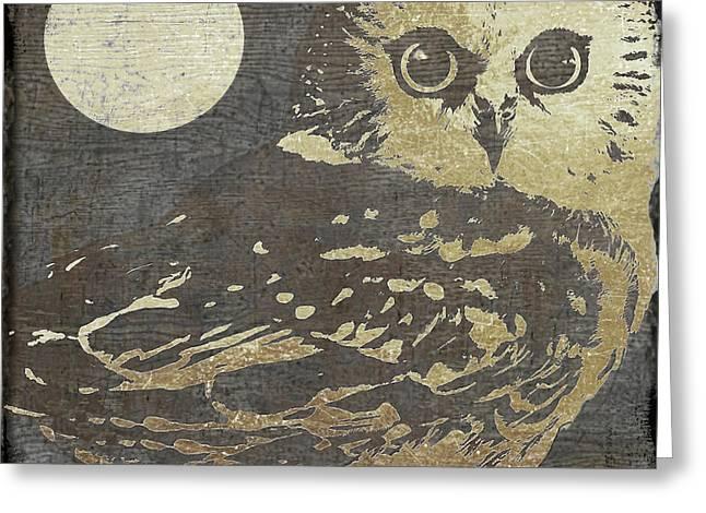 Golden Owl Greeting Card