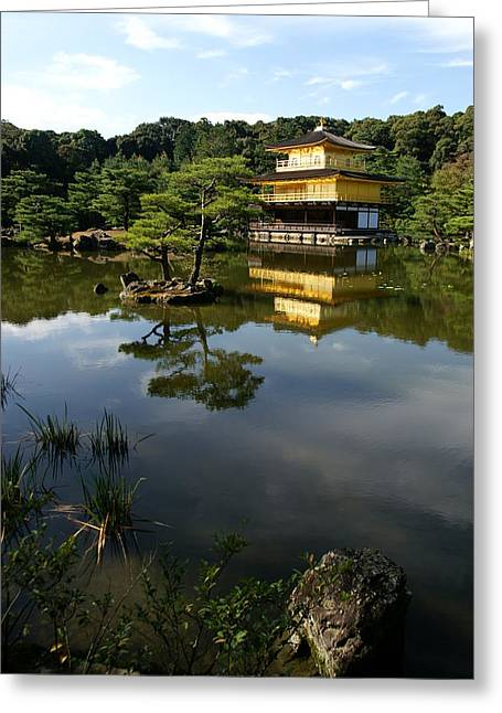 Golden Pavilion In Kyoto Greeting Card by Jessica Rose