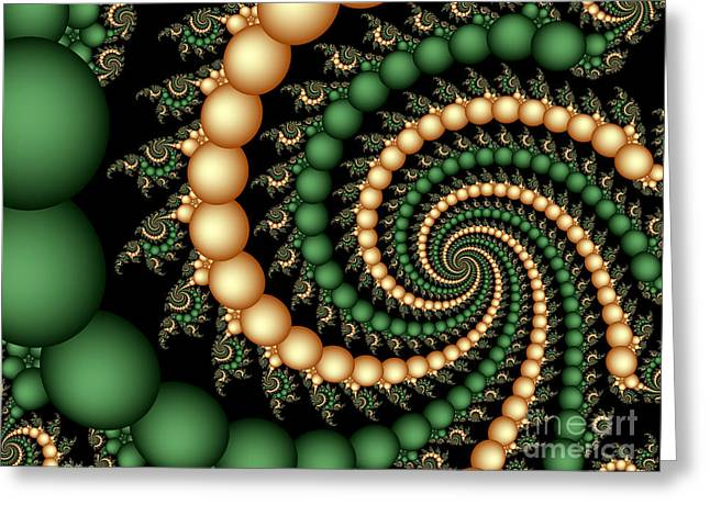 Golden Pearls Greeting Card by Sandra Bauser Digital Art