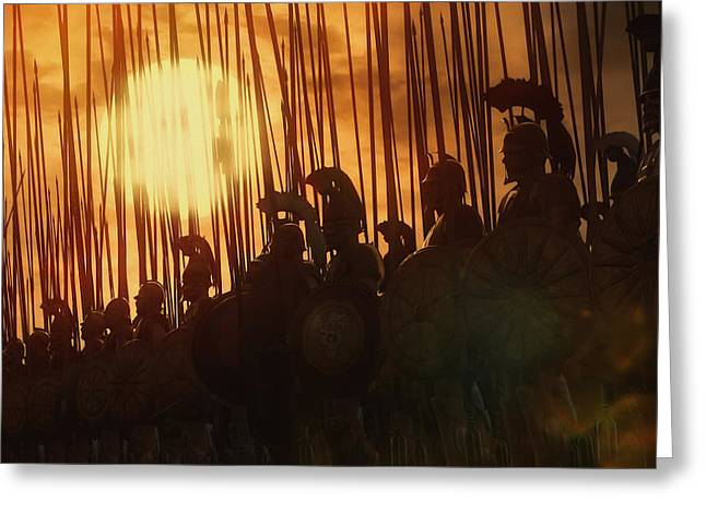 Golden Phalanx - 01  Greeting Card