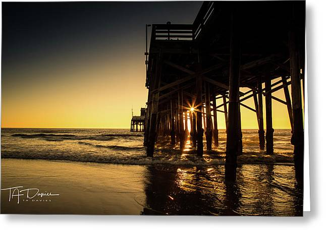 Golden Pier  Greeting Card