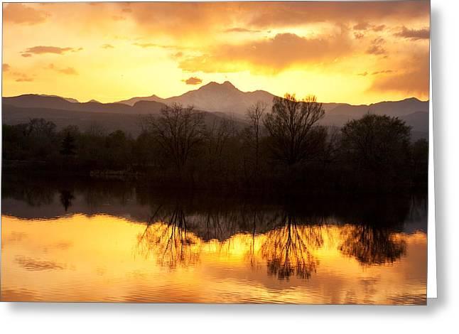 Golden Ponds Longmont Colorado Greeting Card