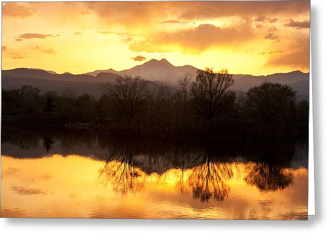 Golden Ponds Longmont Colorado Greeting Card