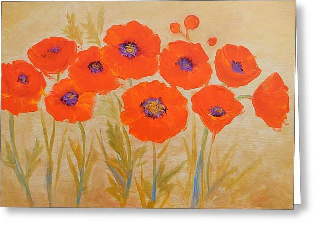 Magical Poppies Greeting Card