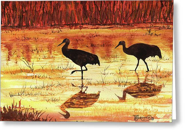 Golden Reflections Greeting Card