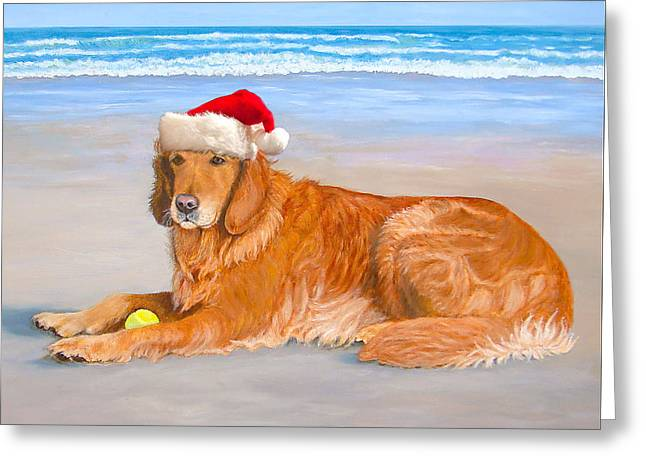 Golden Retreiver Holiday Card Greeting Card